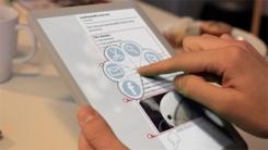 il tablet multitouch Mag+ della Berg per l'editore Bonnier