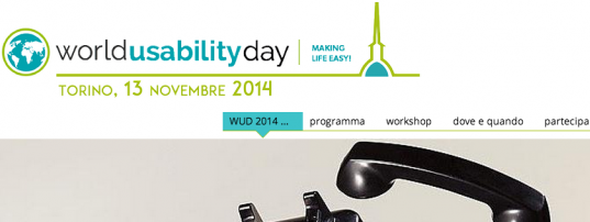 World Usability Day Torino 2014