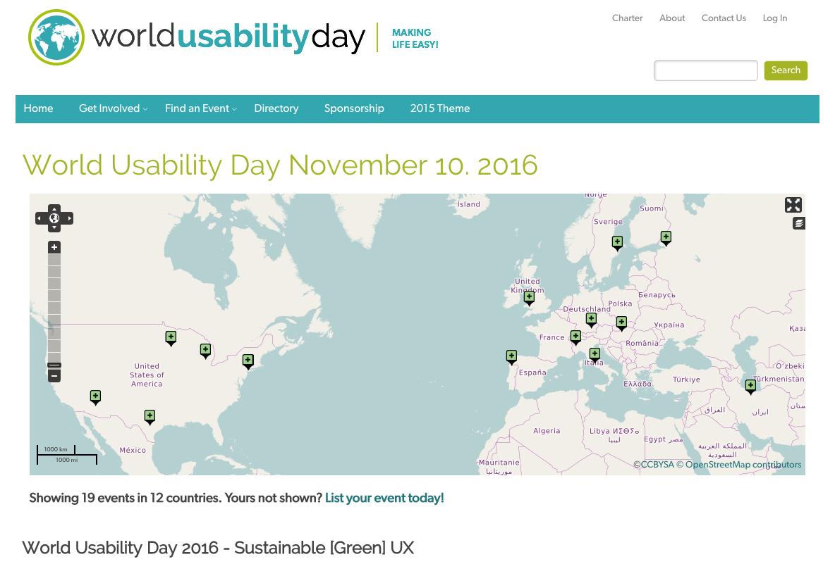 World Usability Day 2016: la sostenibilità al centro