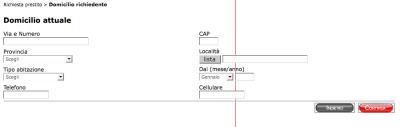 Un esempio di layout di form